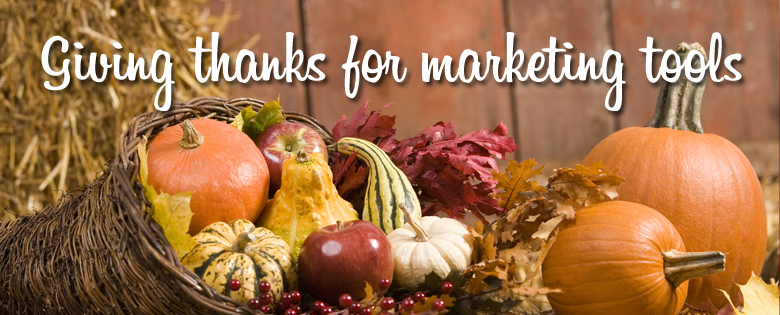 giving thanks for marketing tools