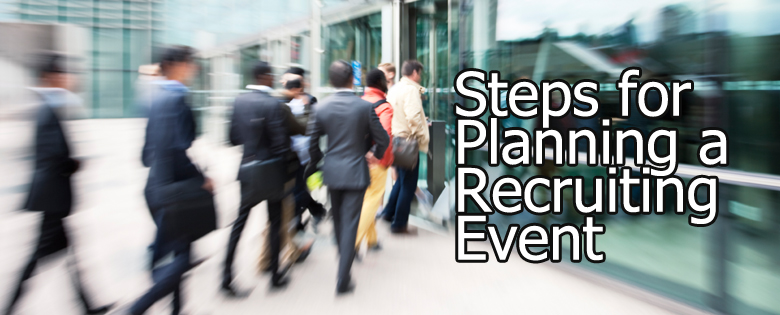 steps for planning a recruiting event